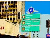 This Way To St. Paul, Fine Art Photo, wall art, home decor, pop art, office  art, Minnesota art, paper art, collage, colorful art, sign art