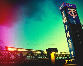 Go Minnesota Twins, sports art, Minnesota, colorful digital photo, wall decor, art, Minnesota photo, Minneapolis art, sports themed art