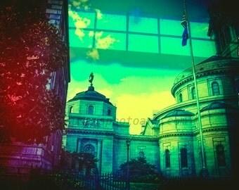 A View of St Paul Minnesota, fine art photo, wall art, ,home decor, office art, dreamy city photo, colorful urban