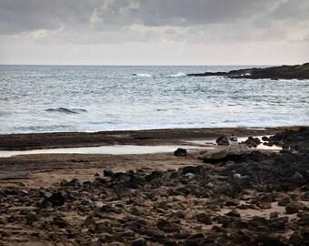 Beach, Kawi Hawaii, colorful photo, wall art, home decor, ocean,water, scenic, peaceful,  landscape, beach, water, office art,  peaceful art