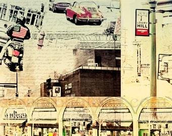 Lowry Hill Minneapolis, Photo Montage,  wall art, home decor, Minnesota themed photo, office art