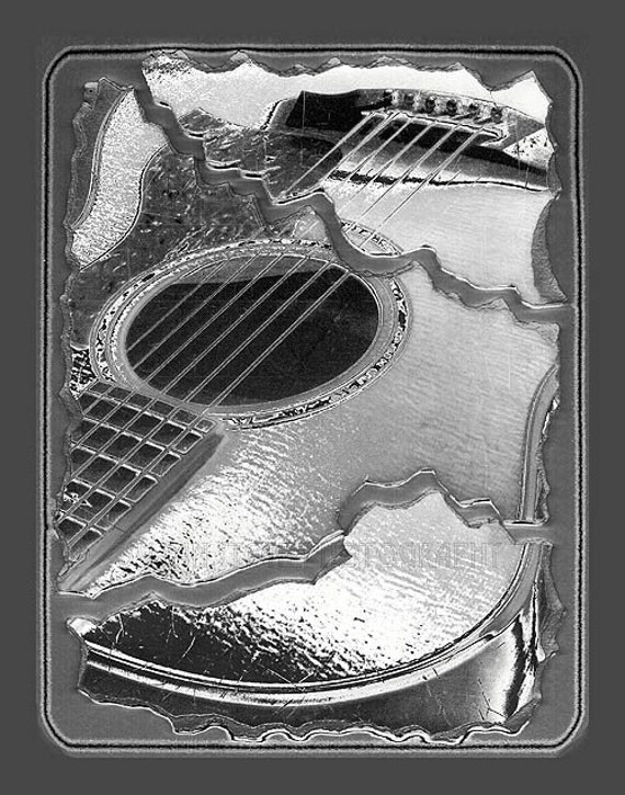 abstract guitar black and white photo art wall art paper. Black Bedroom Furniture Sets. Home Design Ideas