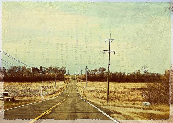 Drive in the Country,  digital photo, paper wall art, home decor, Midwest, Minnesota, rural, office art, country road, Holiday drive