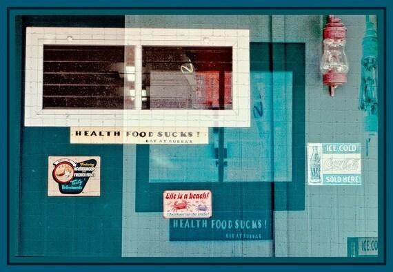 Life is a Beach sticker Wall, digital photo, Hawaii, paper wall art, home decor, kitchen art, food art, humor art