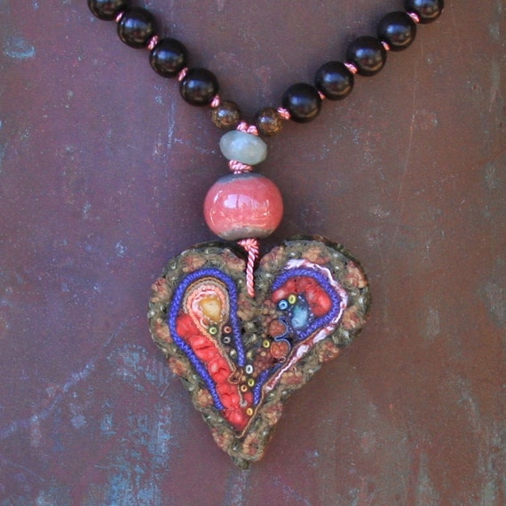 HALF PRICE...happy heart necklace