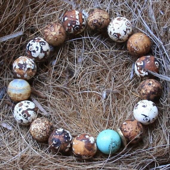 speckled eggs bracelet...