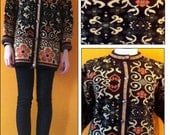 Vintage floral tapestry oversized cardigan (xs-l)