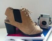 90s chunky slingback peeptoe sandals (uk5)