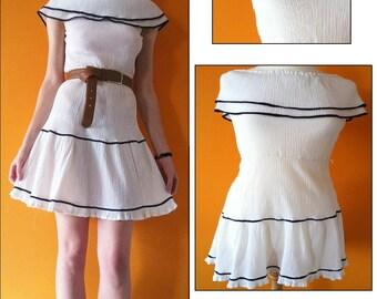 Vintage sailor summer dress (s)
