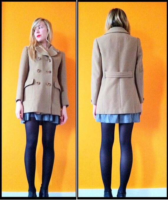 Vintage beige  princess pea coat (s)