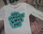Lesbian Pride My Mommies Love Me long sleeve baby onesie