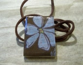 Pendant- Blue Flower