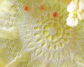 Crocheted Doily - Sunny Touch free shipping