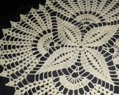 Crocheted Doily - Clover free shipping