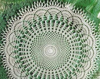 Crocheted Doily - Feelings free shipping