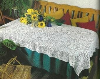 CrocheT Tablecloth - Sunflowers