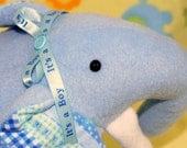 Handmade Blue Plush Animal Elephant for Boy