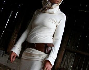 Kalipse Kowl-Hemp and Organic Cotton stretch Long Sleeve Cowl Neck Top by Hempress Arise