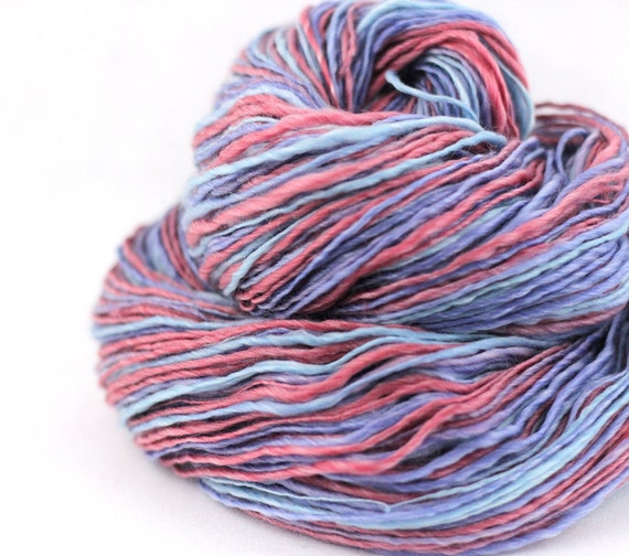 Handspun Yarn - Merino/Tencel - Worsted