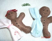 Gingerbread Boy and Girl Baby Plushies