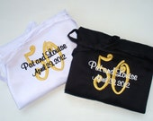 Anniversary Gift - Set of 2 Personalized Aprons - His and Hers - Bride and Groom - Mr. and Mrs. - Custom