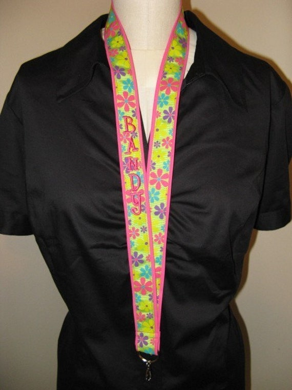Lanyard ID Badge Holder or Camera Strap - Design Your Own Ribbon Style - Monogrammed
