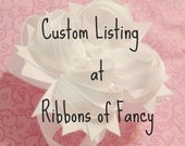 Custom Listing for Christine