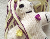 Knitted Voodoo Doll - VooDollz small yellow