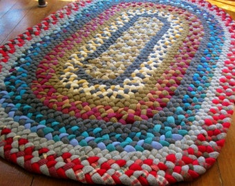 Made To Order Custom Wool Oval Braided Rag Rug/Carpet-recycled in your color choices