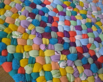 Made to Order Handmade Braided Rug in Pastels from recycled cotton