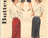 Butterick 2115 Wiggle Skirt Vintage Sewing Pattern 1960s Hip 36 Inches