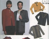 Easy to Sew Lined Jacket with Trim Variations Bust 32-40 Inches Uncut