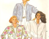 Butterick 3831 Jacket Sewing Pattern Size Large and X Large Bust 38-44 Inches Uncut