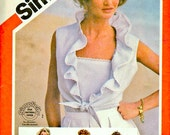 Simplicity 5996 Vintage Camisole and Jacket Sewing Pattern Uncut Bust 36 Inches