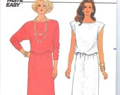 Butterick 3283 Vintage 1980s Dress Sewing Pattern UNCUT Bust 36-40 Inches Size 14-16-18