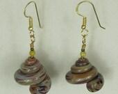 Brown Seashell Earrings
