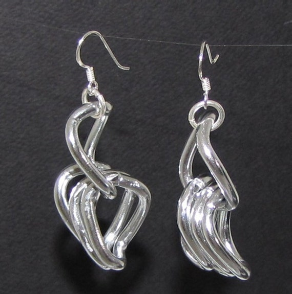 Silver Link Aluminum Earrings