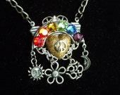 SALE - Hippie LGBTQ Pride Crystal Rainbow Charm Necklace