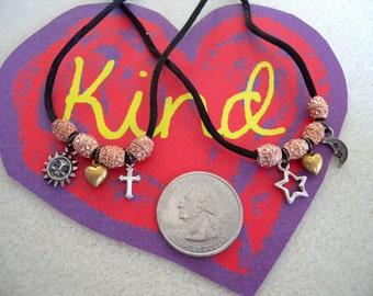 "Pagan/Christian Interfaith Kid's ""Friends"" Necklace Set"