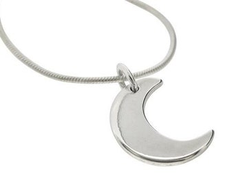 Little Moon Necklace - Sterling Silver