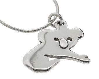 Koala Pendant Necklace - Sterling Silver
