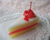 Strawberry cake candle scent aromatic cuisine decorate