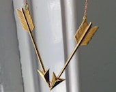 Callisto // Large Brass Arrow Chevron Necklace - Standard Length