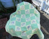 ABC's quilt on snuggly flannel