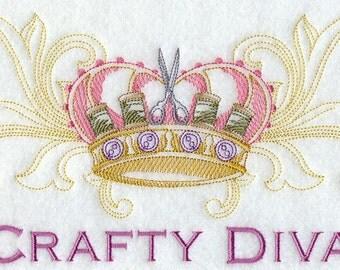 Flour Sack Towel - Crafty Diva Embroidery Design
