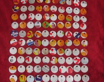 100 Mini Eco Friendly Circle Cardboard Price Tags Craft Tags Jewelry Tags
