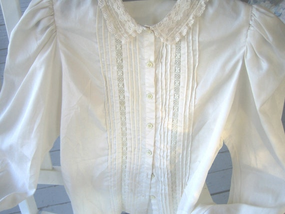 Steampunk blouse, Goth, Victorian blouse, Lacy blouse, tucks