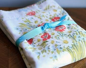 Vintage Floral Sheet  (Red Poppies)