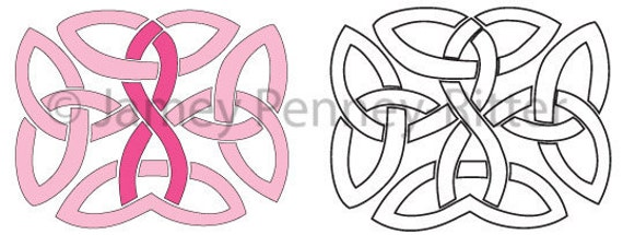 Items similar to tattoo design breast cancer celtic knot for Celtic breast cancer tattoos