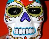 Papier Mache Sugar Skull Bank